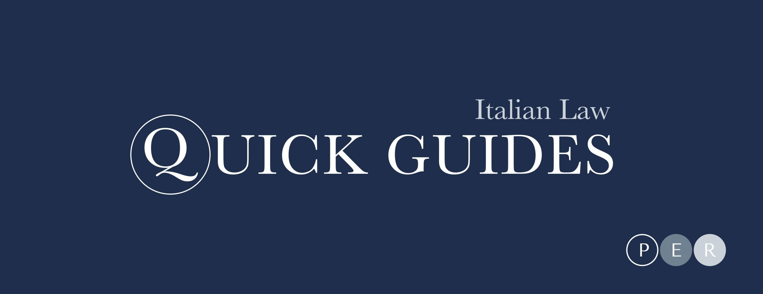 Law Firm Italy - quick guides